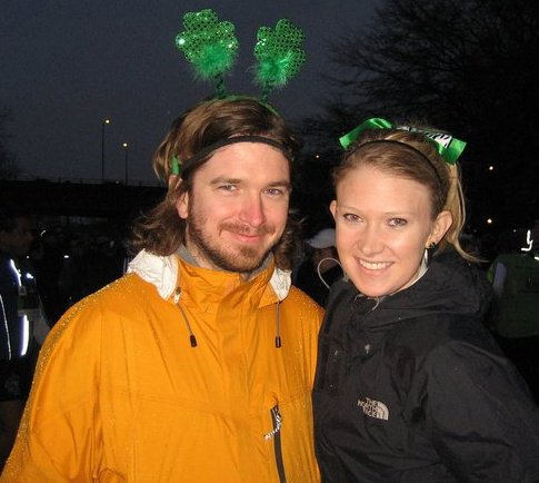 The year L and I ran Shamrock run. Our first race together.