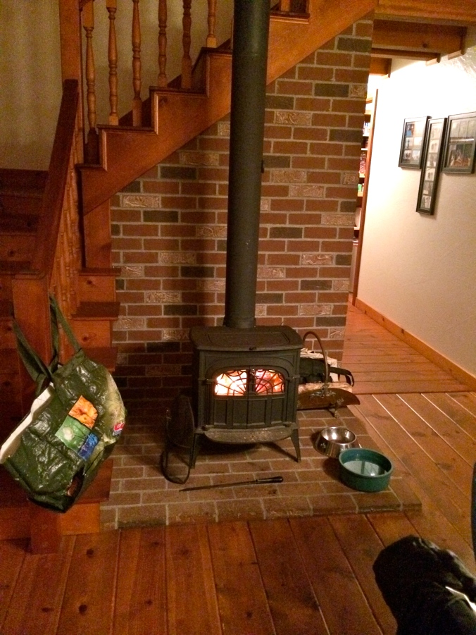 This wood stove was my life saver! I was freezing all weekend.