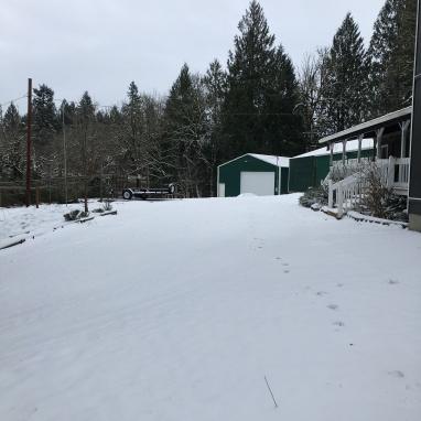 Snowy home.